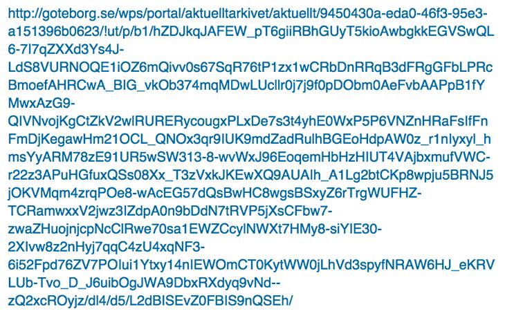 Hur en URL inte ska se ut
