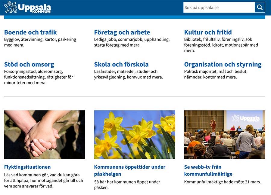 Uppsala.se under prestanda-luppen